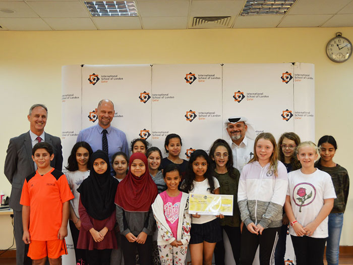 ISL Qatar Students Raised Funds To Donate To Qatar Charity